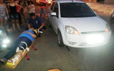Acidente na Rua Marechal Deodoro deixa uma pessoa ferida