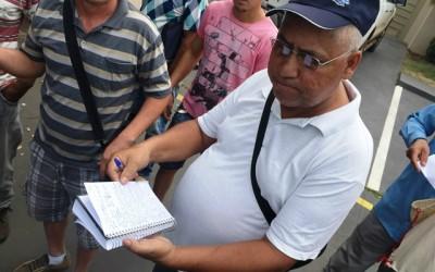 Desempregados protestam e pedem a saída da diretoria do Ciat