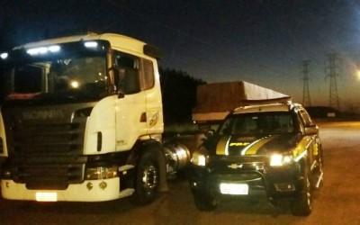 Scania com queixa de furto é recuperada pela PRF no Km 21 da BR-262