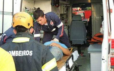 Acidente gravíssimo ocorrido no bairro Vila Nova deixa motorista inconsciente