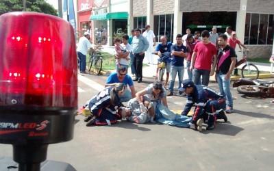 Homem fica ferido em acidente causado por imprudência