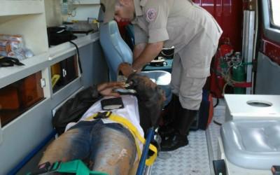 Motociclista dorme e sofre grave acidente na MS-112 na zona rural de Três Lagoas