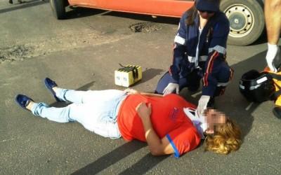 Mulher de 34 anos fica ferida em acidente registrado nesta 5º feira