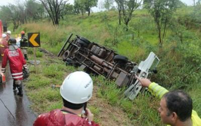 Motorista que sofreu acidente em Jaraguari vinha para Três Lagoas