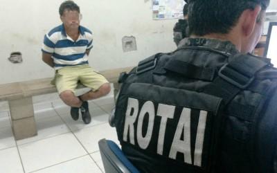 Foragido é preso pela Rotai em abordagem de rotina no Jardim Carandá