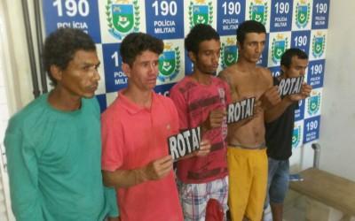 Cinco pessoas são detidas por envolvimento em tentativa de furto de padaria