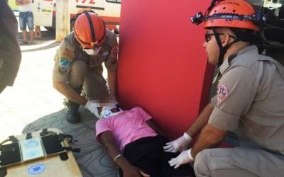 Acidente no Centro de Três Lagoas deixa dois jovens feridos