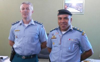2º BPM recebe a visita do Comandante do 13º BPM de Paranaíba