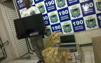 Polícia Militar prende em flagrante suspeito de tráfico de drogas e apreende mais de 130 kg de maconha