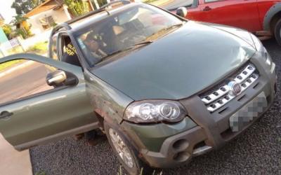DOF apreende veículo com sinais de adulteração em Amambaí