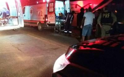 Pedestre é socorrido em estado grave após sofrer grave acidente na BR-262