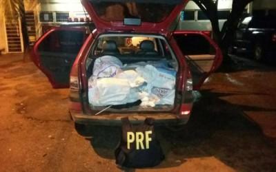 PRF realiza acompanhamento tático de veículo suspeito por mais de 90 km e intercepta carregamento de 173 kg de droga
