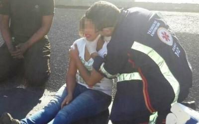 Acidente entre carro e moto deixa uma pessoa ferida em Três Lagoas