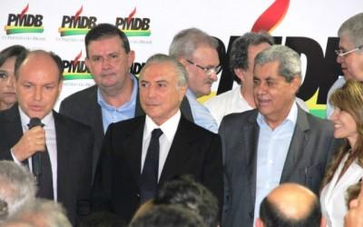 Deputado Eduardo Rocha acompanha vice-presidente Michel Temer em sua visita ao MS