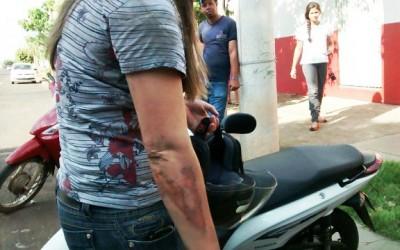 Motociclista sofre escoriações em acidente no Vila Nova