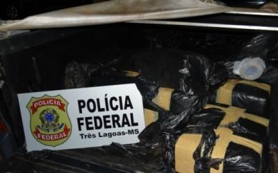 PF de Três Lagoas procura por homens que abandonaram veículo com 204 kg de maconha