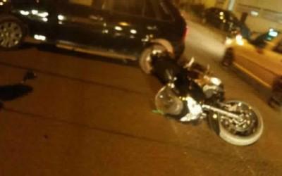 Piloto de moto de alta cilindrada sofre fratura em acidente no bairro Jardim Cangalha