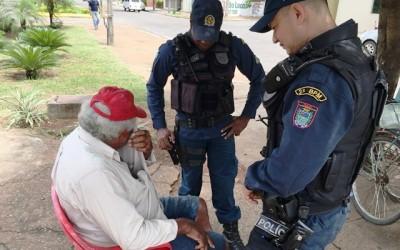 Desesperado, idoso pede socorro para Polícia Militar