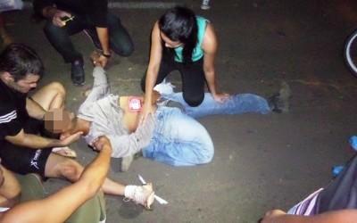 Motociclista sofre fratura grave ao ser atropelado na antiga Municipal