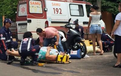 Gestante fica ferida em acidente no bairro Santo André