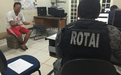 Ao checar denúncia de veículo furtado, ROTAI cumpre mandado de prisão