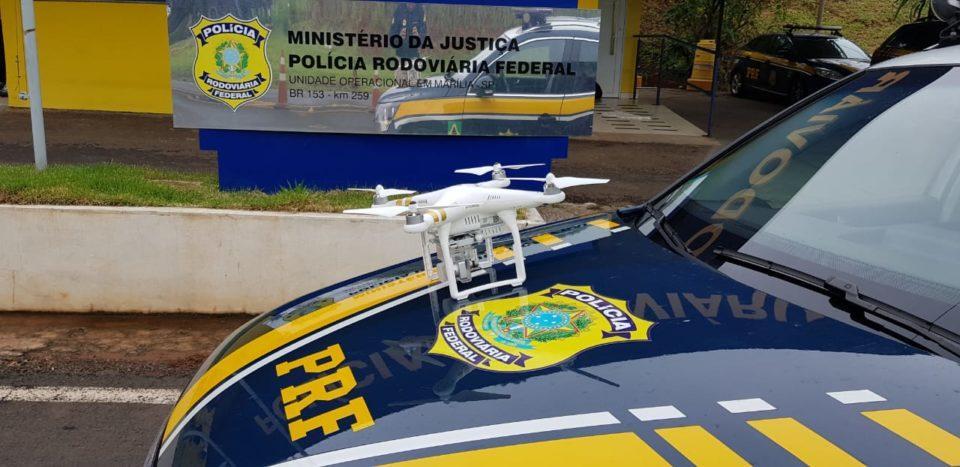 PRF de Marília utiliza drone em fiscalizações na BR-153