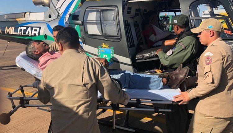 Pacientes ficam presos e são resgatados de helicóptero no Pantanal