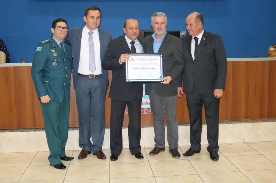 Em sessão solene, Câmara Municipal de Três Lagoas concede honrarias à Polícia Civil do MS