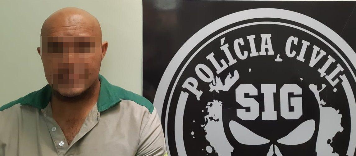 Condenado há 19 anos de prisão por tráfico de drogas é preso em depósito de gás