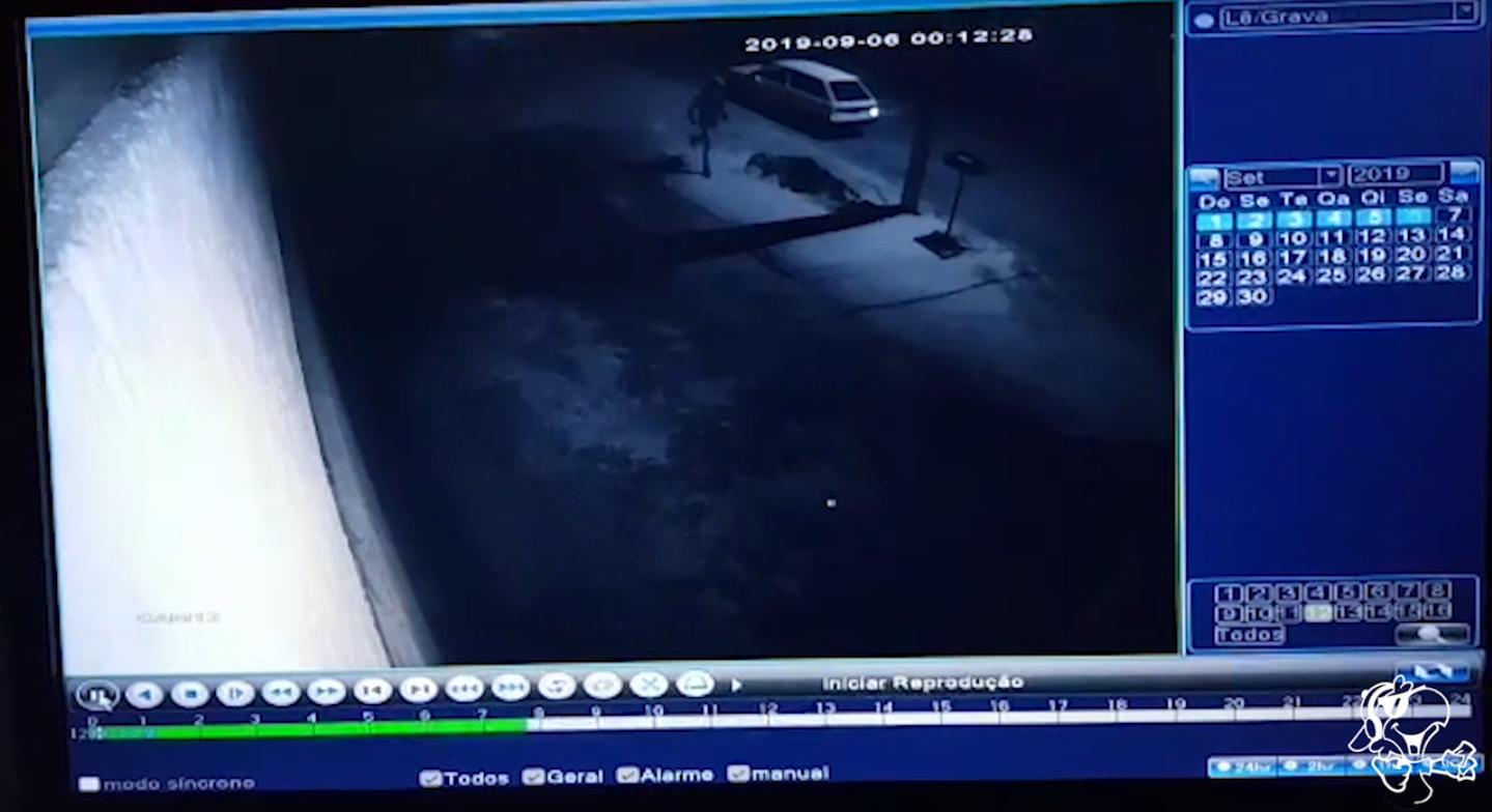 Imagens revelam detalhes do furto à loja de telhas da av. Capitão Olinto Mancini, na última sexta
