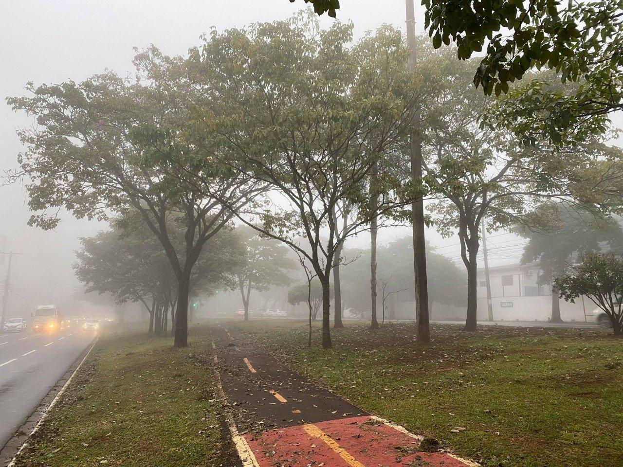 Frio chegou em MS com 17 cidades encobertas por neblina e mínima de 9°C