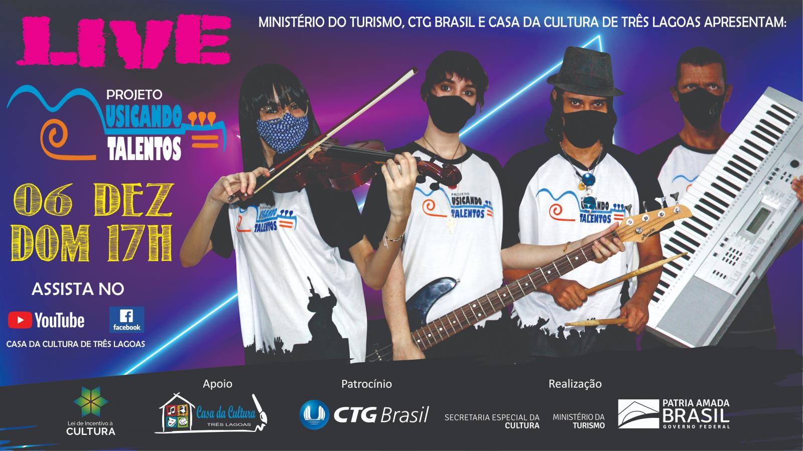 Festival Musicando Talentos realiza live neste domingo