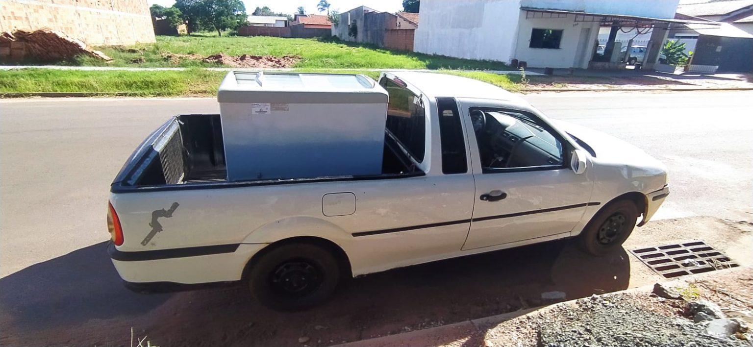 Polícia Militar de Três Lagoas recupera freezer obtido em golpe do falso depósito