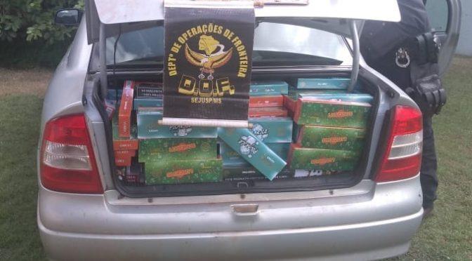 DOF apreende veículo com produtos contrabandeados do Paraguai